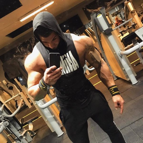 Men Bodybuilding Cotton Tank top Gyms Fitness Hooded Vest Sleeveless Shirt Summer Casual Fashion Workout Brand Clothing 24
